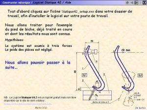 Construction mcanique Logiciel Statique 42 Aide X Tout