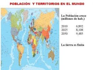 ACIN POBLACIN Y TERRITORIOS EN EL MUND 0
