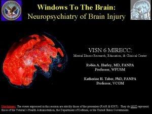 Windows To The Brain Neuropsychiatry of Brain Injury