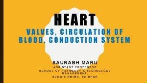 HEART VALVES CIRCULATION OF BLOOD CONDUCTION SYSTEM SAURABH