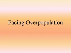 Facing Overpopulation Doubling Time Thomas Malthus 1798 British