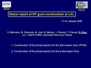 PHIN Status report of RF guns construction at