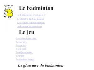 Le badminton cest quoi Lhistoire du badminton Les