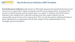 Key Performance Indicators KPI Template Key Performance Indicators
