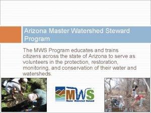 Arizona Master Watershed Steward Program The MWS Program