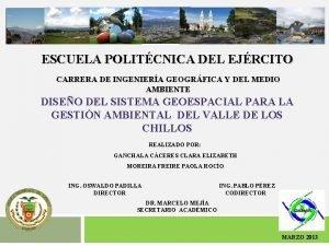 ESCUELA POLITCNICA DEL EJRCITO CARRERA DE INGENIERA GEOGRFICA