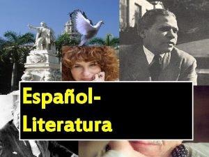 Espaol Literatura Prctica de reconocimiento y empleo del