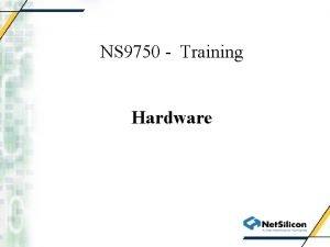 NS 9750 Training Hardware USB 2 0 USB
