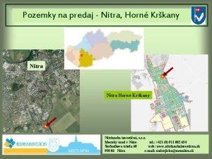 Pozemky na predaj Nitra Horn Krkany Nitra Horn
