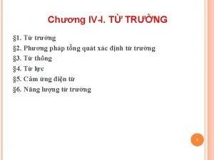 Chng IVI T TRNG 1 T trng 2