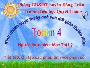 Phng GDT huyn ng Triu Trng Tiu hc
