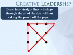 Draw four straight lines which go through the
