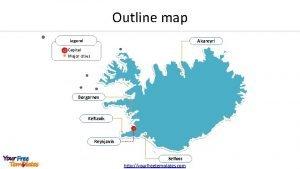 Outline map Legend Akureyri Capital Major cities Borgarnes