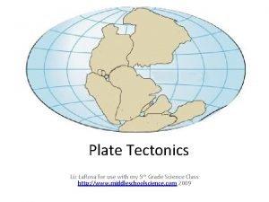 Plate Tectonics Liz La Rosa for use with