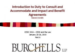 Introduction to Duty to Consult and Accommodate and