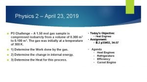 Physics 2 April 23 2019 P 3 Challenge