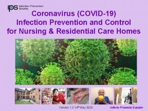 Coronavirus COVID19 Infection Prevention and Control for Nursing