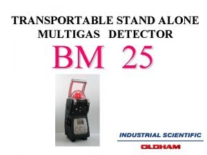 TRANSPORTABLE STAND ALONE MULTIGAS DETECTOR BM 25 STAND