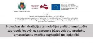 ES ELFLA Latvijas Lauku attstbas programmas 2014 2020