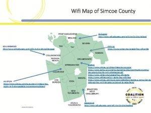 Wifi Map of Simcoe County MIDLAND http www