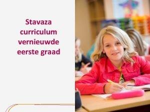 Stavaza curriculum vernieuwde eerste graad Decreet onderwijsdoelen eerste