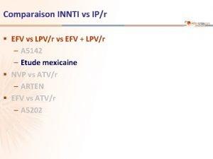 Comparaison INNTI vs IPr EFV vs LPVr vs