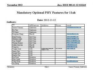 November 2012 doc IEEE 802 11 121333 r