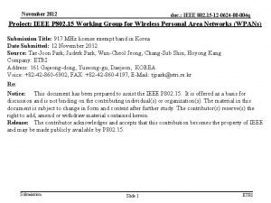 November 2012 doc IEEE 802 15 12 0624