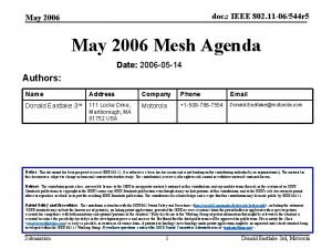 doc IEEE 802 11 06544 r 5 May