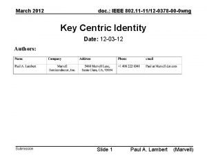 March 2012 doc IEEE 802 11 1112 0378