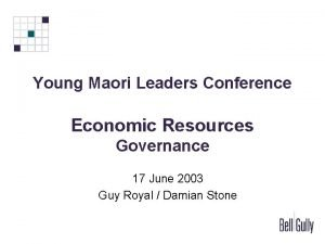 Young Maori Leaders Conference Economic Resources Governance 17