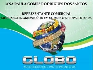 ANA PAULA GOMES RODRIGUES DOS SANTOS REPRESENTANTE COMERCIAL