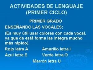 ACTIVIDADES DE LENGUAJE PRIMER CICLO PRIMER GRADO ENSEANDO
