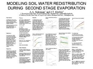 MODELING SOIL WATER REDISTRIBUTION DURING SECOND STAGE EVAPORATION