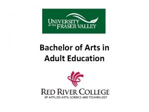 Bachelor of Arts in Adult Education Bachelor Degrees