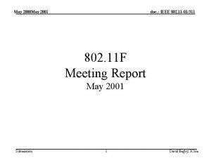 May 2000 May 2001 doc IEEE 802 11