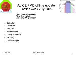 ALICE FMD offline update offline week July 2010