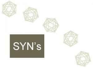 SYNs DEFINIES Syn palavra do grego que significa