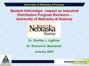 University of Nebraska at Kearney Student Internships Impact