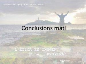 Conclusions mat Possibles conflictes dinters Eva Peguero 2018