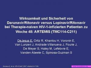 Wirksamkeit und Sicherheit von DarunavirRitonavir versus LopinavirRitonavir bei