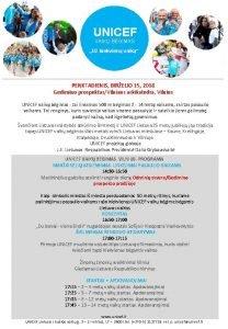 UNICEF VAIK BGIMAS U kiekvien vaik PENKTADIENIS BIRELIO