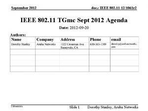 September 2012 doc IEEE 802 11 121061 r
