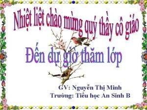 GV Nguyn Th Minh Trng Tiu hc An