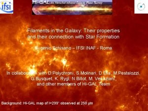 Filaments in the Galaxy Their properties and their