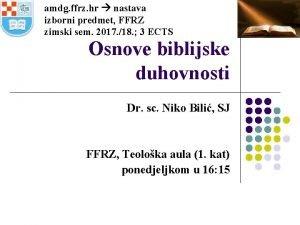 amdg ffrz hr nastava izborni predmet FFRZ zimski