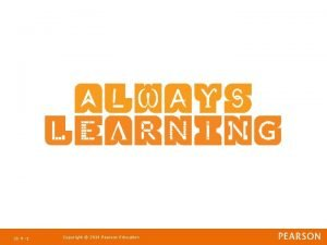 Ch 9 1 Copyright 2011 Pearson Education Strategic