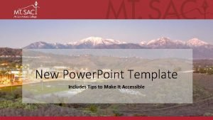 New Power Point Template Includes Tips to Make