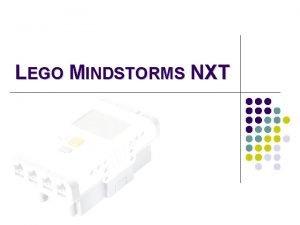 LEGO MINDSTORMS NXT SENSORES l Sensor ultrasnico l