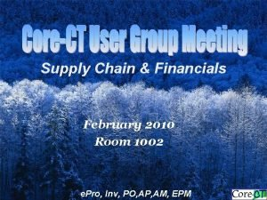 Supply Chain Financials February 2010 Room 1002 e